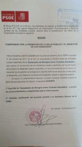 El Grupo PSOE - COMPROMISO POR LA PROMOCION DE LA SALUD PUBLICA Y EL BIENESTAR DE LOS CIUDADANOS